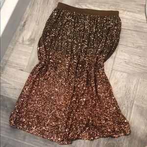 LC Runway Ombre sequin Skirt size M NWT